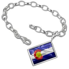 Charm Bracelet set Colorado 3D Flag region: America (USA) - Neonblond -- Read review @…