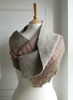 Strood scarf Knitting pattern by Anni Howard Knitting Yarn, Hand Knitting, Knitting Designs, Knitting Patterns, Garter Stitch, Long Scarf, Girls Sweaters, One Design, Beaded Lace