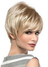 Take a look at this short wig with stylish layering in a long pixie cut. Angel by Envy Wigs is a synthetic wig and a great choice for women with hair loss. Long Pixie Cuts, Short Pixie, Pixie Hairstyles, Braided Hairstyles, Pixie Haircuts, Virtual Hairstyles, Trendy Hairstyles, Coupes Long Pixie, Braid Styles