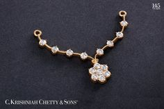A Traditional Touch. Gold Earrings Designs, Gold Jewellery Design, Bead Jewellery, Diamond Jewellery, Beaded Jewelry, Mangalsutra Design, Diamond Mangalsutra, Pendant Set, Diamond Pendant