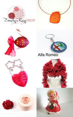 Red color gifts, S 2 by Millie Ol on Etsy--Pinned with TreasuryPin.com