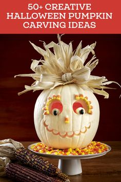 27 Creative and Scary Pumpkin-Carving Ideas for Halloween. Halloween spooky decoration ideas with pumpkins. Creative pumpkins decoration ideas for Halloween. Halloween indoor and outdoor decoration ideas. Unique Pumpkin Carving Ideas, Funny Pumpkin Carvings, Amazing Pumpkin Carving, Pumpkin Carving Party, Diy Halloween, Adornos Halloween, Halloween Pumpkins, Halloween 2018, Holidays Halloween