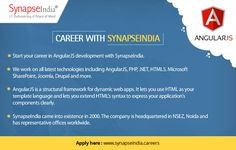 Start your SynapseIndia career in AngularJS development.  Get more info at: http://synapseindia-careers.blogspot.in/2017/06/synapseindia-career-great-opportunity-for-freshers.html