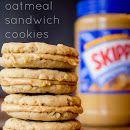 Peanut Butter Oatmeal Sandwich Cookies- sounds delish!