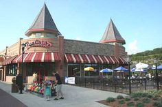 Garfield's Restaurant on the Branson Landing. Good food. When the weather is nice you can sit outside and enjoy the scenery.