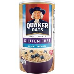 Quaker Oats Gluten Free Quick Oats Original Breakfast Cereal 18 Ounce Canister Pack of 12 * For more information, visit image link. (This is an affiliate link and I receive a commission for the sales) Gluten Free Oats, Gluten Free Diet, Gluten Free Recipes, Dairy Free, Breakfast Cereal, Breakfast Menu, Breakfast Recipes, Diet Tips, Have Time