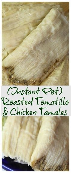 Tomatillo Chicken, Tomatillo Recipes, Chicken Tamales, Roasted Tomatillo, Pork Tamales, Baby Food Recipes, Mexican Food Recipes, Cooking Recipes, Mexican Desserts