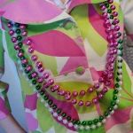 Apple Blossom style - sporting the pink n green!