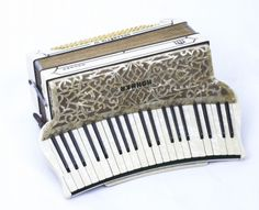 Vintage Hohner Organetta III Piano Accordion with case