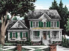 Country House Plan with 1563 Square Feet and 3 Bedrooms from Dream Home Source   House Plan Code DHSW38722