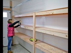 Clever Ana White Build An Easy And Fast Diy Garage Or Basement Shelving For Tote Storage Free And Easy Diy Project And Furniture Plans Diy Storage Shelves, Laundry Room Storage, Tote Storage, Storage Ideas, Cheap Storage, Build Shelves, Easy Shelves, Cheap Shelves Diy, Making Shelves