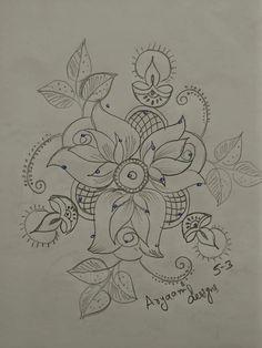 Rangoli Side Designs, Rangoli Designs Latest, Free Hand Rangoli Design, Rangoli Patterns, Small Rangoli Design, Rangoli Ideas, Rangoli Designs With Dots, Rangoli Designs Images, Rangoli With Dots