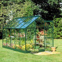 Green B&Q 6X8 Toughened Safety Glass Greenhouse   Departments   DIY at B&Q