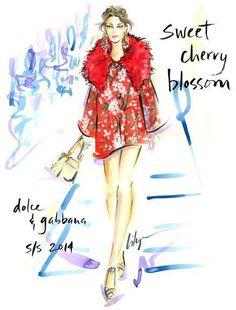 Illustration: Dolce & Gabbana-Spring-2014. Fashion Illustration by Jennifer Lilya