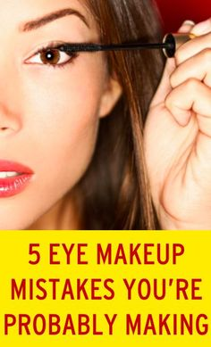 The most common mistakes people make when doing eye makeup.