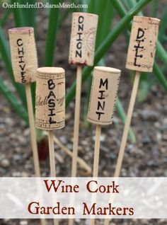 How to Recycle Wine Corks into Plant Markers