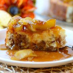 Caramel Apple-Brownie Cheesecake