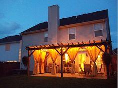 Pergola lighting at dusk. #patio #design #outdoor