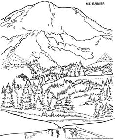 farm barn and cows coloring pages colouring adult detailed ... - Mountain Landscape Coloring Pages