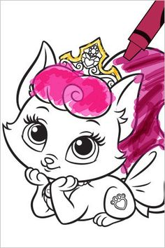 The Disney Princess Palace Pets are just so cute. I had to share these free coloring pages and activities. I also added a little Party flare with the cupcake toppers, which also work as stickers if… Free Coloring Pages, Coloring Sheets, Elephant Template, Princess Palace Pets, A Little Party, Hello Kitty, Printables, Disney Princess, Cupcake Toppers