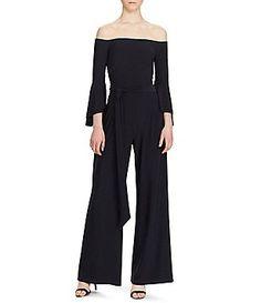 0c8e69ecca90 Lauren Ralph Lauren Off-the-Shoulder Jumpsuit Black Jumpsuit