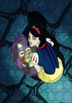 Snow White Drugs by llad on deviantART Trippy Cartoon, Dope Cartoon Art, Disney Pop Art, Dark Disney, Trippy Wallpaper, Cartoon Wallpaper, Drugs Art, Arte Hip Hop, Stoner Art