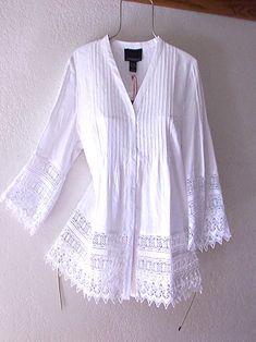 Shirts & Tops, Crochet Lace Edging, Crochet Top, White Lace Blouse, Moda Boho, White Shirts, Lace Tops, Lace Blouses, Vintage Lace