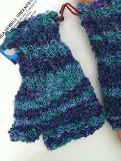 Cotton Viscose Mitts by Andrea Newell Greenfield.