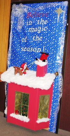 Christmas Door Decorations on Pinterest | Reindeer, Merry Christmas ...
