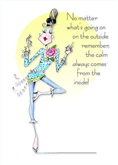 Staying Calm woman humor print by VanityGallery on Etsy, $10.00
