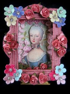 https://flic.kr/p/66Rdru | Marie Antoinette Shadow box | Altered Altoid Tin turned Marie's picture window~