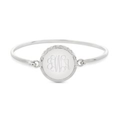 Our personalized Sterling Silver Hammered Edge Bangle Bracelet will add style to any ensemble. Engrave her name, monogram, a special date or message on the attached charm. https://www.thingsremembered.com/sterling-silver-hammered-edge-tension-bracelet/product/347445?fcref=pinterest