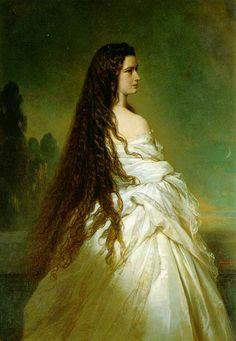 Elisabeth Kaiserin von Österreich, 1865  Franz Xaver Winterhalter