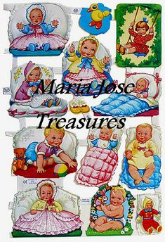 🌟Tante S!fr@ loves this📌🌟Embossed and die cut paper scraps made in England Vintage Pictures, Vintage Images, Cute Pictures, Vintage Paper Dolls, My Childhood Memories, Baby Kind, Paper Toys, Old Toys, Vintage Children