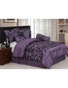 Would really like a purple comforter for my room.  Would match my bathroom!