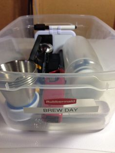 """Why a Brew Day Box? Over the years I've homebrewed, I've utilized a number of storage/organization strategies. Some could be defined less as strategies and more as """"piles"""".…"""