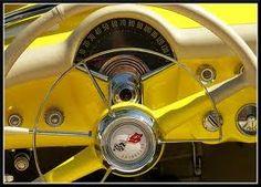 vintage 1950's Chevrolet Corvette dash/steering wheel.