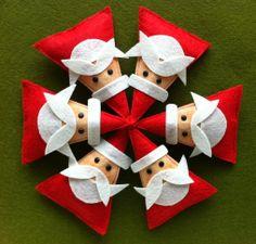 VENTAdulce Santa broche SET de 6 por claraiuribe en Etsy, $60,00