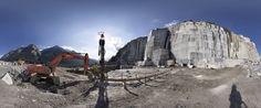 Foto panoramica della zona estrattiva della cava di Lodrino