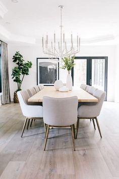 100 Minimalist Home Decor Ideas » Lady Decluttered Dining Room Design, Dining Room Table, Modern Dining Room Chairs, Modern Dining Room Lighting, Farmhouse Dining Chairs, Luxury Dining Room, Modern Dining Sets, Designer Dining Chairs, Contemporary Dining Rooms