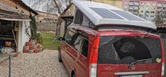 ETFE solar panels on pop up roof MB Viano Solar Panels, Pop Up, Camper, Sun Panels, Camper Van, Mobile Homes, Camper Trailers, Recreational Vehicle, Caravan