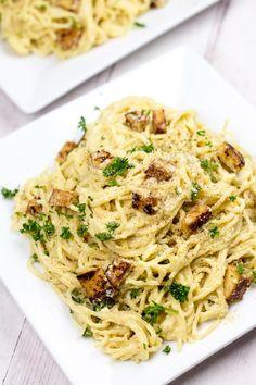 Vegan Spaghetti Carbonara | Ceara's Kitchen