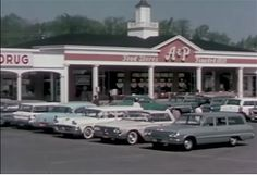 A&P Grocery, Pittsford Plaza, Rochester, New York 1963
