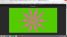MYOATS Trabajar con Myoats me ha resultado entretenido porque solo moviendo el ratón hacia dentro y hacia fuera se iban creando multitud de formas algunas más sencillas y otras dignas de admirar. Mi dibujo es algo sencillo una estrella de 10 puntas con un gran significado en la historia. Myoats, te permite con solo cambiar algunas características, obtener multitud de imágenes radiales. También te da la opción de modificar el color del fondo y el del objeto de simetría.