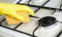 baking soda with enough water and hydrogen peroxide to make a paste. Spread this cleaning solution around the stovetop and leave for minutes 44 brilliant cleaning tricks to keep your home sparkling clean Cleaning Granite Countertops, Cleaning Cabinets, Cleaning Blinds, Cleaning Wood, Oven Cleaning, House Cleaning Tips, Diy Cleaning Products, Cleaning Solutions, Spring Cleaning