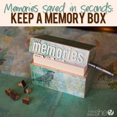 How to make a Memory Box  #howdoesshe #memorybox #savememories #memoriesoncards #memories #cards  howdoesshe.com