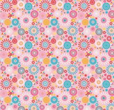 Girl Crazy Pink Cotton Fabric Flowers 1/2 Mtr