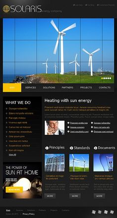 Solaris Solar Facebook HTML CMS Templates by Mira