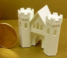 Karin Corbin Miniatures  Tiny Glitter House, 1 inch tall
