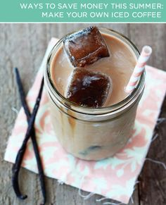 Make your own iced coffee with this #recipe! At coffee shops, iced coffee can be up to 20% more expensive than regular.